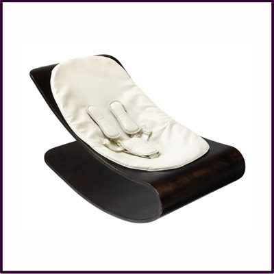 Baby Lounger Stylewood Cappuccino Coconut White