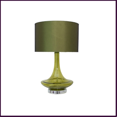 Green Glass Eclipse Lamp