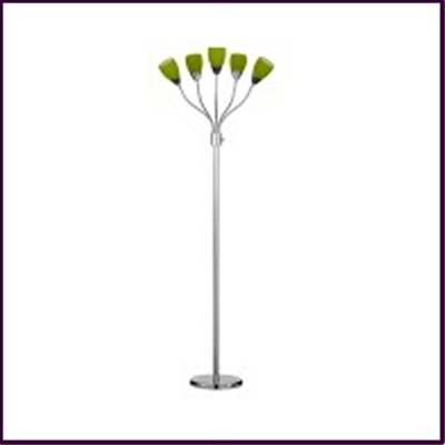 Floor Lamp Grren Glass Shade