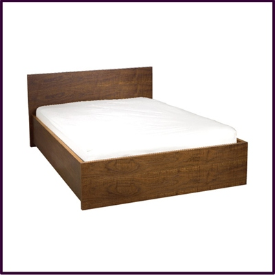 Stylish Walnut Vaneered Bed Frame Available in Double or King