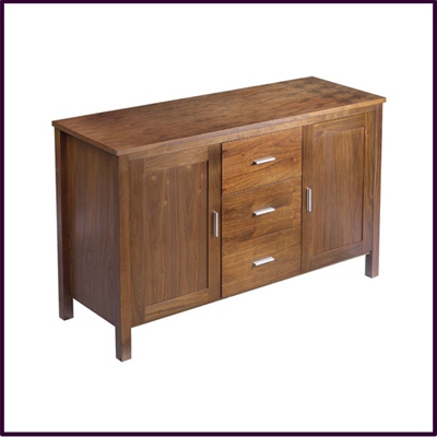 Walnut Veneer 2 Door / 3 Drawer Sideboard