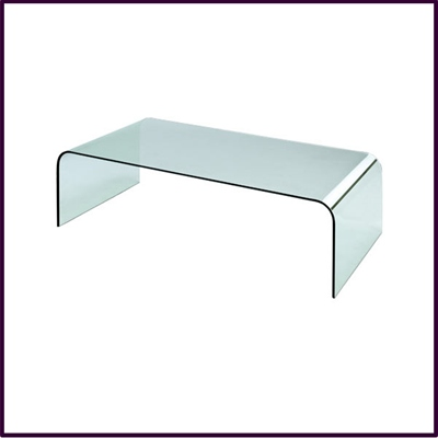 Azzuro Bent Glass Coffee Table