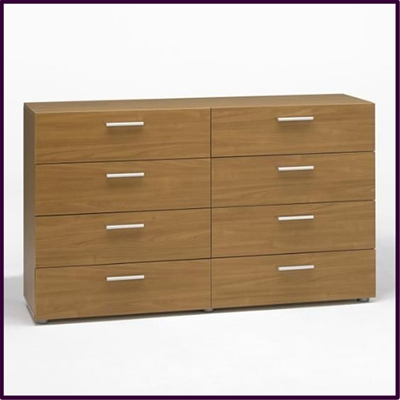 Pepe 8 drawer chest in light cherry finish £139
