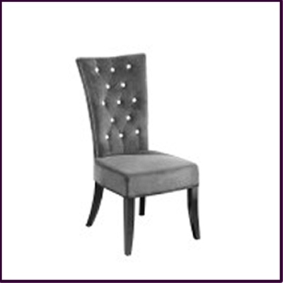 Radiance Dining Chair - Charcoal Grey Velvet