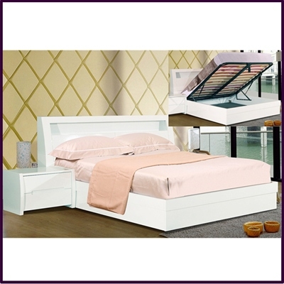 Tanya High Gloss Storage Bed