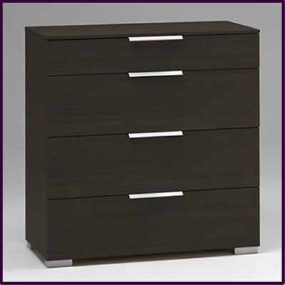 Valencia 4 drawer chest in wenge finish £119